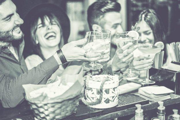 Gin-Tasting Berlin –Gruppe hat Spaß