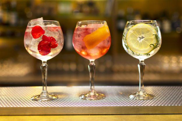 Gin Cocktailkurs zu Hause drei Gin-Cocktails