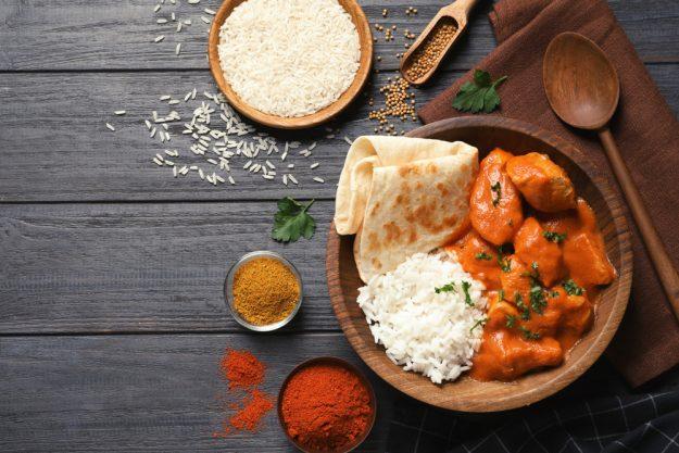 Online Kochkurs – Butter Chicken mit Reis und Naan
