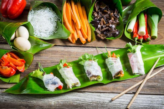 vietnamnesischer Kochkurs online leckere Sommerrollen