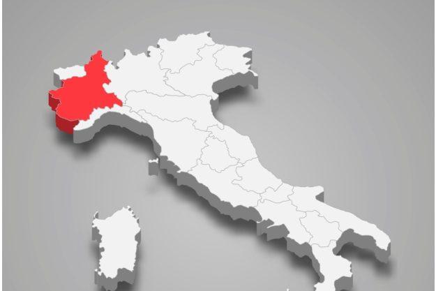 virtuelle Reise ins Piemont das Piemont Lage in Italien