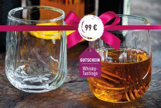 Gutschein für ein Whisky-Tasting Gutschein für ein Whisky-Tasting 99€