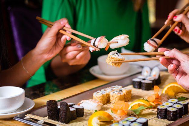Online Kochkurs Sushi Sushi gemeinsam genießen