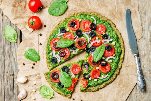 veganer Kochkurs Dresden – grüne Pizza
