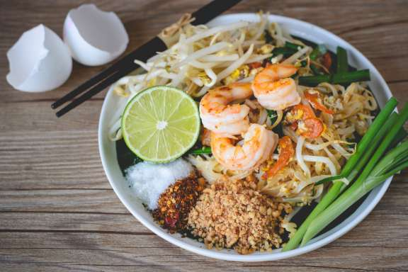 Thai-Kochkurs Wuppertal – Stir fried Rice Noodles