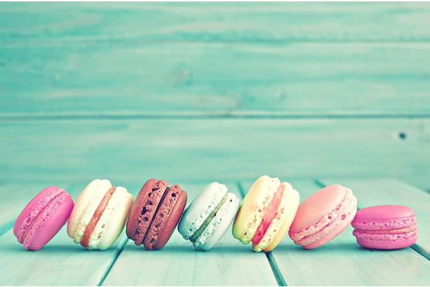 Backkurs at Home bunte Macarons