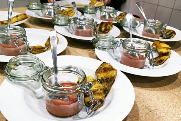 Thai-Kochkurs Wuppertal – Sorbet mit Ananas