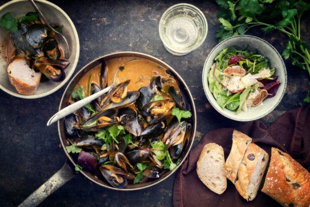 Fisch-Kochkurs München - Bouillabaisse mit Muscheln