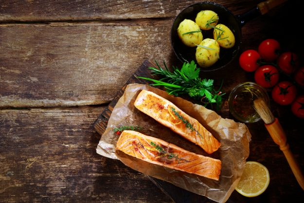 Fisch-Kochkurs München - Lachs auf Brett