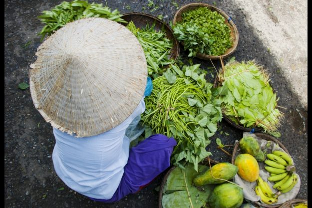 Vietnamesischer Kochkurs München - Marktfrau in Hanoi