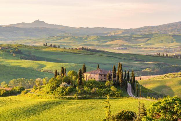 virtuelle Reise in die Toskana, Landschaft