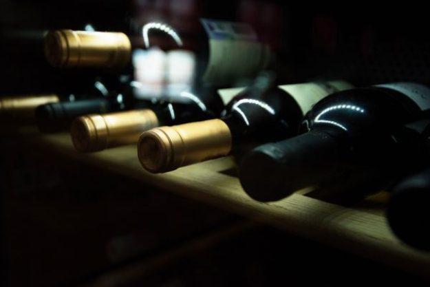 Weinseminar München –Riesling-Flaschen