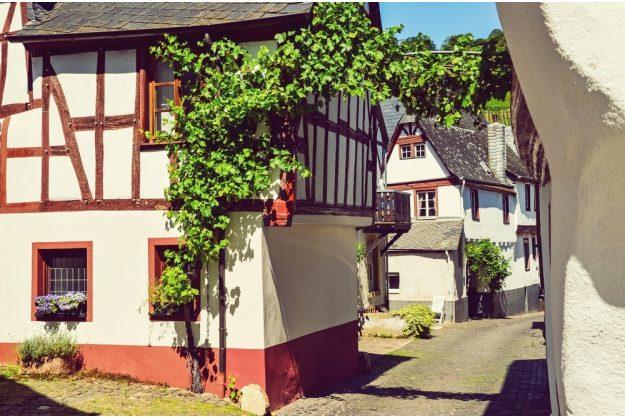 Kulinarische Stadtführung Mainz – Häuserreihe in Mainz