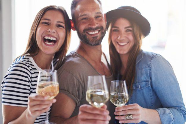 Weinseminar Hamburg -  Freunde trinken Wein