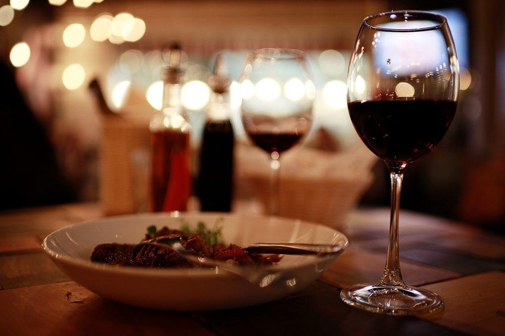 Wein zum Dinner