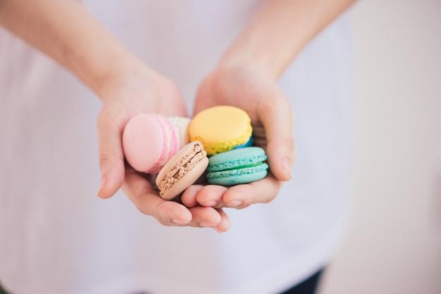 Macaron-Backkurs Leipzig – flieder Macarons