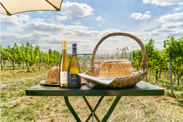 Weinwanderung online mit Essen Picknick