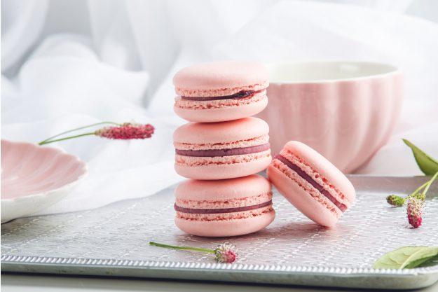 Backkurs München - rosa Macarons