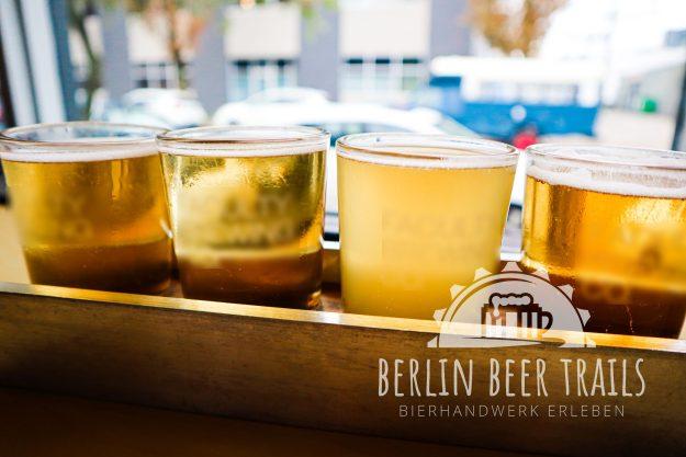 Bierprobe Berlin - verschiedene Biere vor Ort