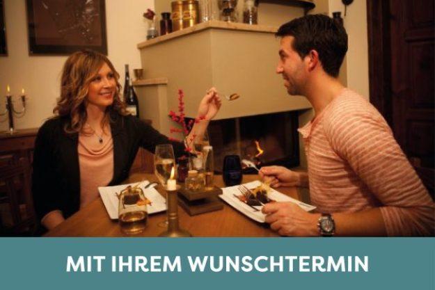 Candlelight Dinner Leipzig – Paar isst in der Drogerie