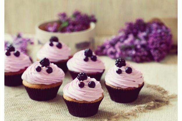 Cupcake-Kurs Berlin-Mahlow – lila Cupcakes