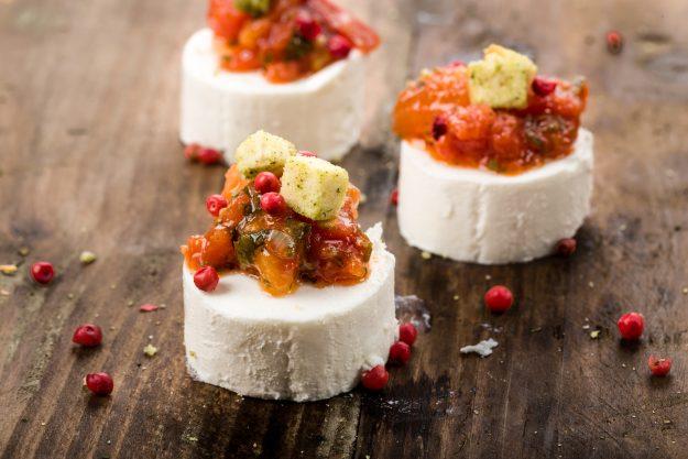 Firmenfeier Essen mit Küchenparty - Ziegenkäse Snack
