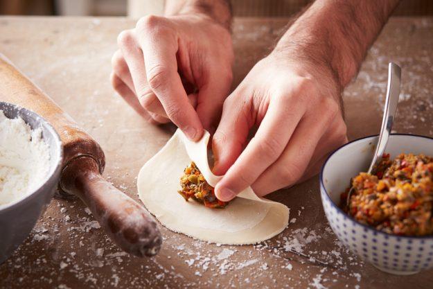 Firmenfeier in Freiburg – Tortellini füllen