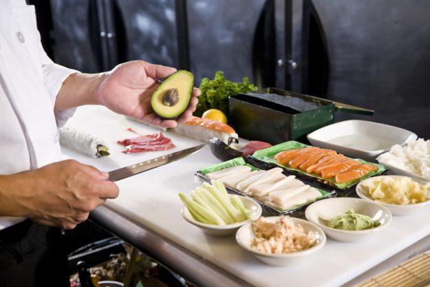Firmenevent in der Küche - Sushi Zutaten