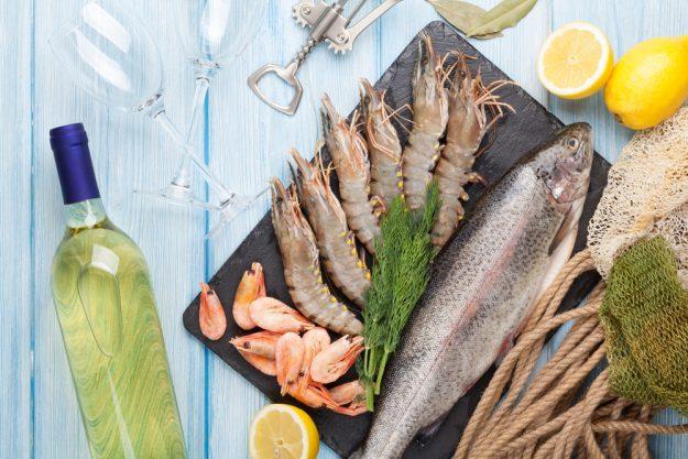 Fisch-Kochkurs Nürnberg - Fisch und Meeresfrüchte mit Weißwein