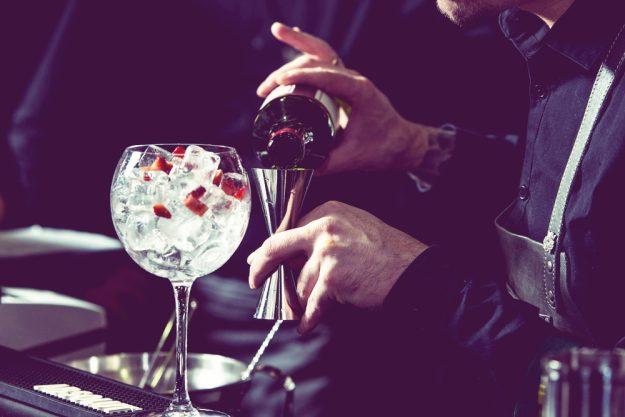 Gin-Seminar Mannheim – Barkeeper mixt mit Dry Gin