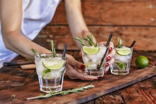 Gin-Tasting Karlsruhe – Barkeeperin serviert Gin Tonic