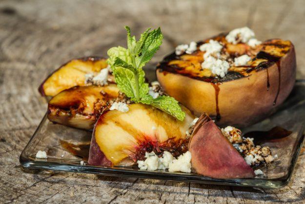 Incentive mit Grillkurs in Frankfurt – gegrillter Pfirsich
