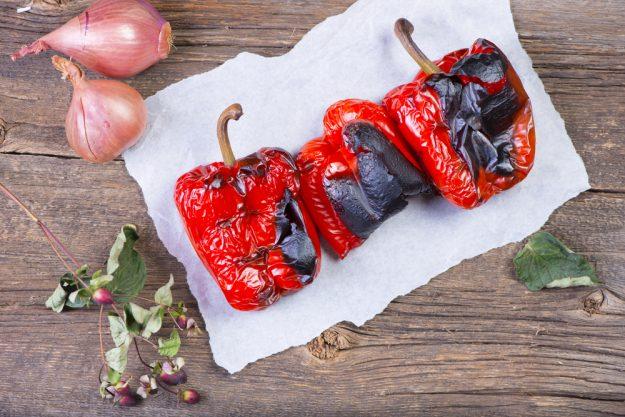 Incentive mit Grillkurs in Frankfurt – gegrillte Paprika