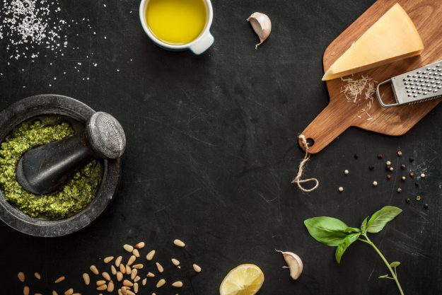 Italien-Kochkurs Senden – Pesto Zutaten