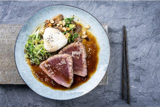 Japan-Kochkurs Köln – Thunfisch-Gericht