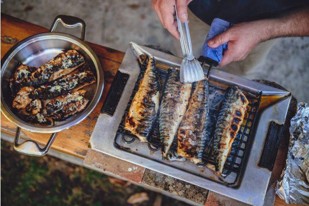 JGA mit Grillkurs – gegrillter Fisch