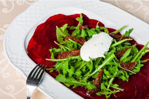 karibischer Kochkurs Dresden – Rote Beete Carpaccio