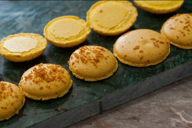 Macarons-Backkurs Düsseldorf – gelbe Macarons