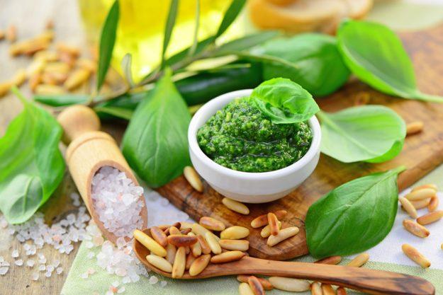 Saucen-Kochkurs München - grüne Pesto Soße