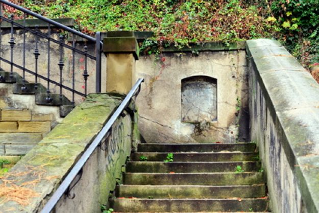 Betriebsausflug Stuttgart - alte schöne Treppe im Park