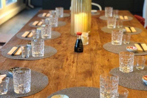 Sushi-Kurs Stuttgart – gedeckter Tisch