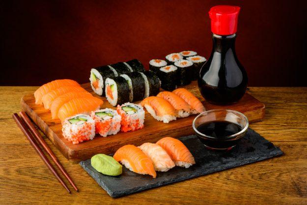 Teambuilding Sushi-Kurs Stuttgart - verschiedene Sushi Variationen