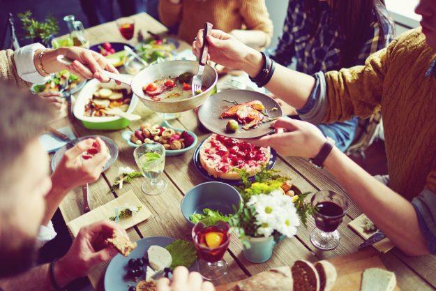 Kulinarisches Firmenevent – Fertige Speisen