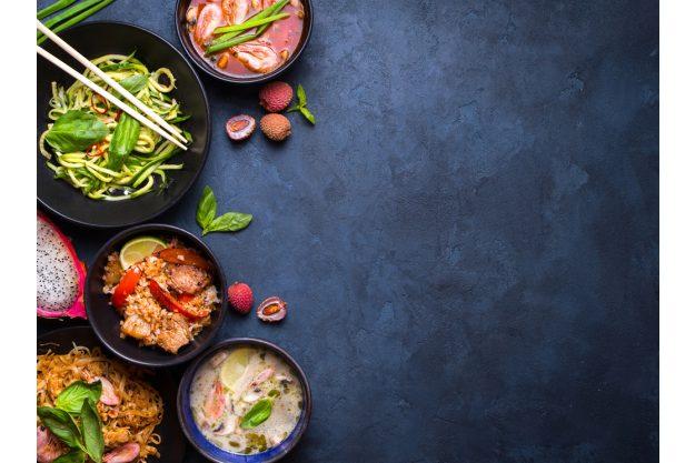 Thai-Kochkurs Dresden – Thaifood auf dunklem Hintergrund