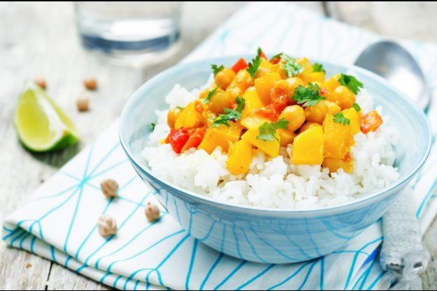 Veganer Kochkurs Hannover – Süßkartoffel-Curry mit Reis