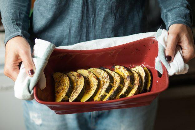 Veganer Kochkurs Stuttgart - gebackener Kürbis aus dem Ofen