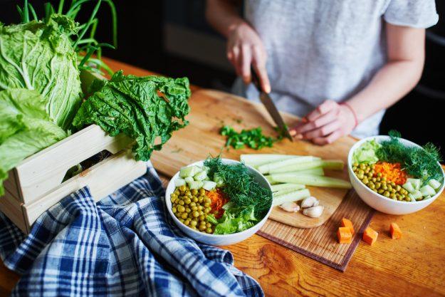 Vegetarischer Kochkurs Dresden – Gemüse schneiden
