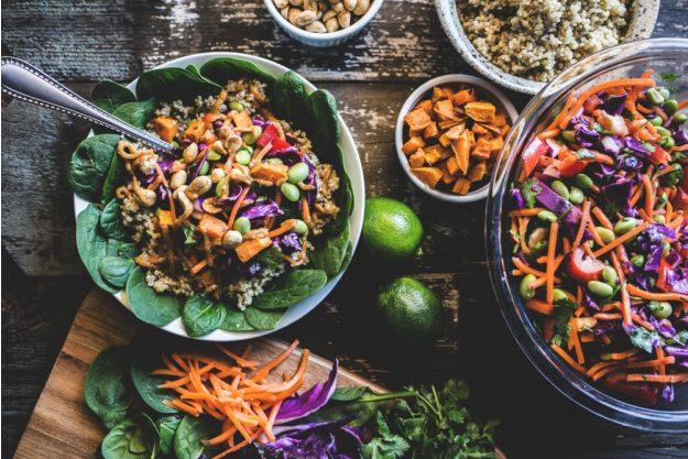 Vegetarischer Kochkurs Essen – Gemüse-Salat