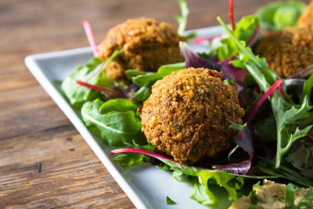Vegetarischer Kochkurs Nürnberg Falafel Salat