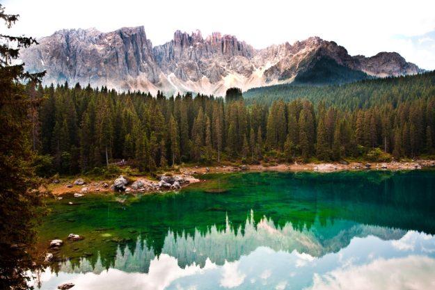virtuelle Reise nach Südtirol Bergsee